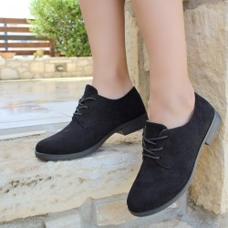 Suede oxrord shoes